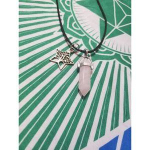 Handmade Rose Quartz Pendant Tree of life Star Necklace